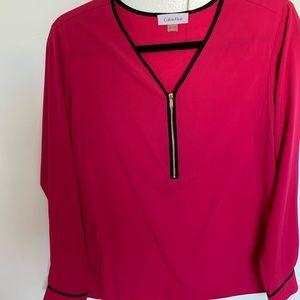 NWOT, Light sheer blouse, sharp pink, never worn.